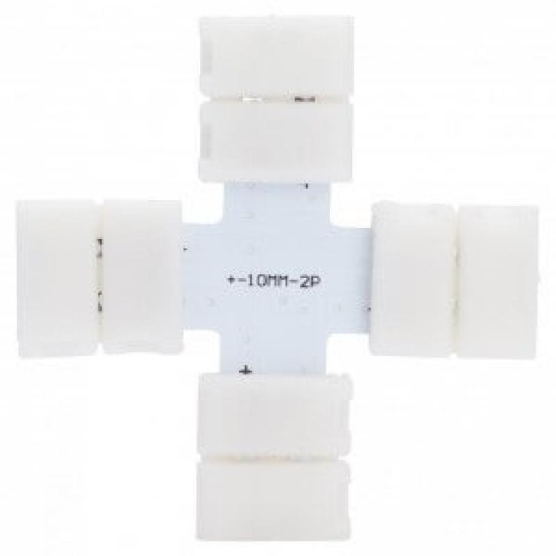 Conector de presión para tira LED monocromática cruz - Imagen 1