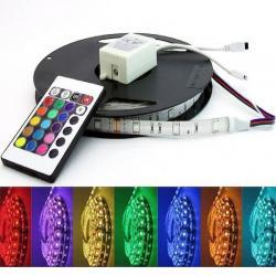 Pack Tira de LED 14.4W RGB IP20 + Controladora + F. Alimentacíon