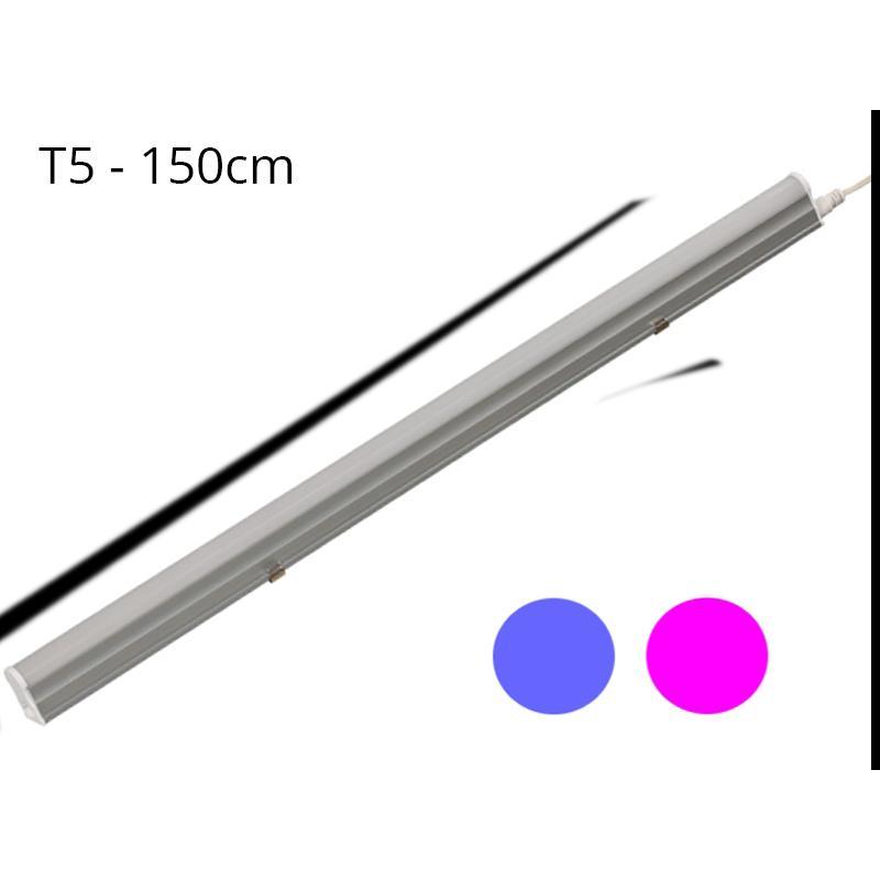 Regleta LED T5 23W 120º G13 Azul y Rosa - Imagen 1