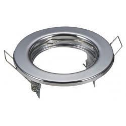 Aro plata circular para dicroica LED GU10 - MR16