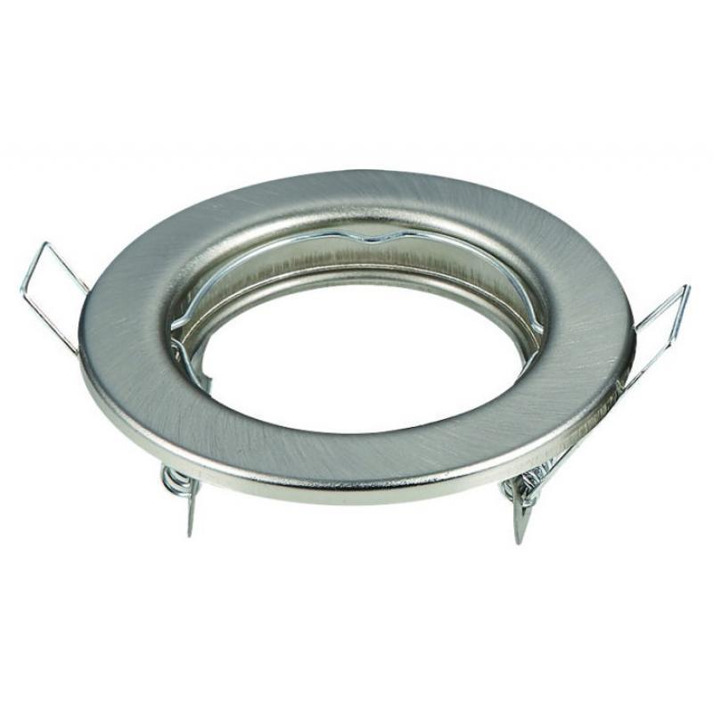 Aro plata envejecida circular para dicroica LED GU10 - MR16 - Imagen 1