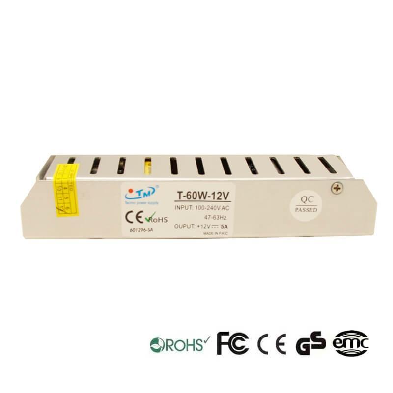 Fuente Alimentación 12V 60W - Aluminio IP20 - Imagen 1