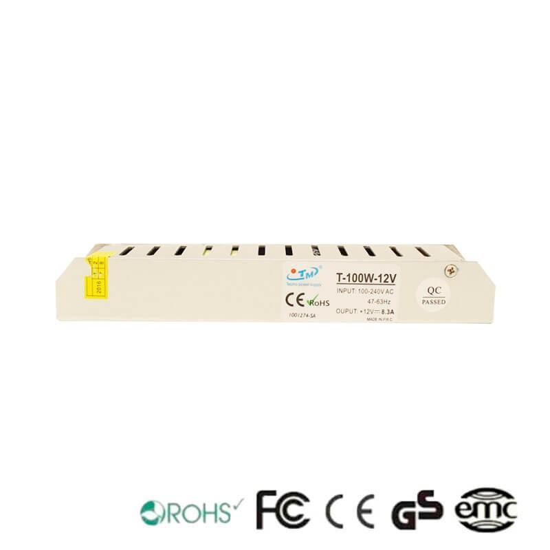 Fuente Alimentación 12V 100W - Aluminio IP20 - Imagen 1