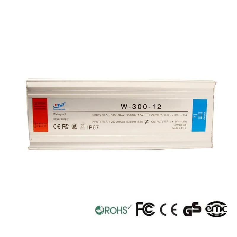Fuente Alimentación 12V 300W - Aluminio IP67 - Imagen 1