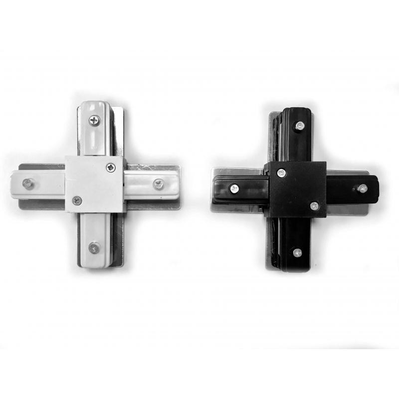 Conector tipo X para Carril Monofásico REFORZADO - Imagen 1