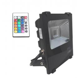Foco Proyector  Exterior LED 10W RGB  PROFESIONAL - Imagen 1