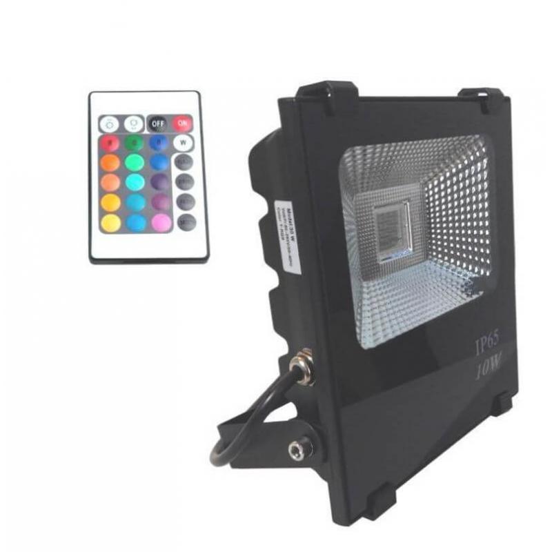 Foco Proyector  Exterior LED 10W RGB  PROFESIONAL - Imagen 1