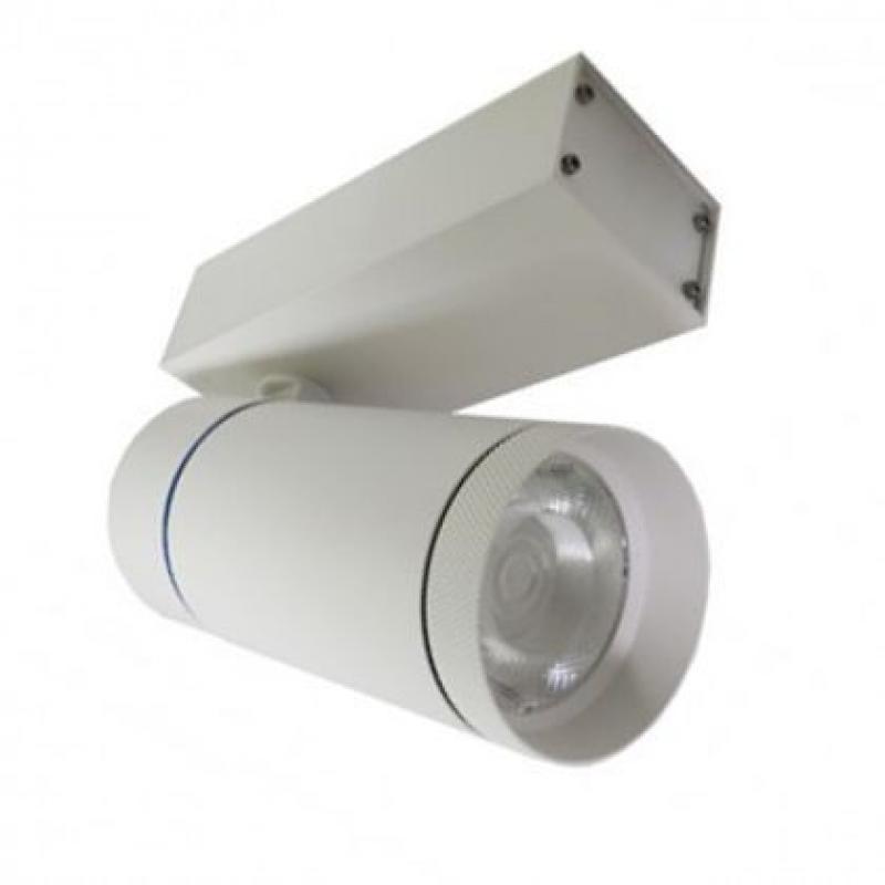 Foco LED 30W LEIA Blanco para carril Monofásico 24º - Imagen 1