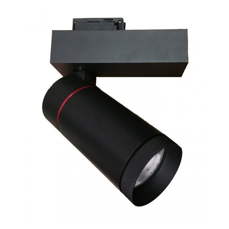 Foco LED 30W LEIA Negro para carril Monofasico 24º - Imagen 1
