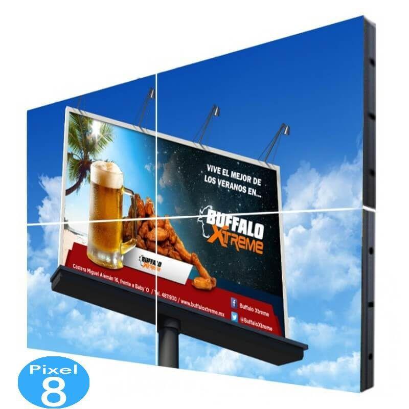 Pantalla electrónica LED Exterior Serie FIJA Pixel 8 RGB 3.68m2 (4 modulos) - Imagen 1
