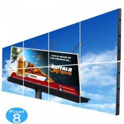 Pantalla electrónica LED Exterior Serie FIJA Pixel 8 RGB 7.37m2 (8 modulos) - Imagen 1
