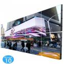 Rótulo electrónico LED Exterior Serie FIJA Pixel 10 RGB 7.37m2 (8 modulos) - Imagen 1
