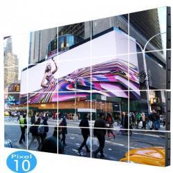 Rótulo electrónico LED Exterior Serie FIJA Pixel 10 RGB Full Color 18,43m2 -(20 Modulos +Control)-