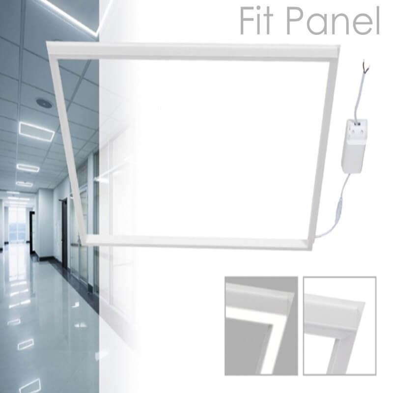 FIT Panel LED 60x60 cm 40W Marco Luminoso Blanco - Imagen 1