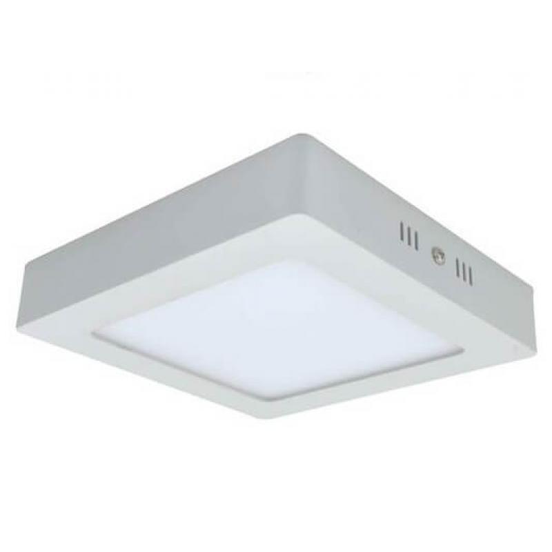 Plafón LED Superficie cuadrado blanco 20W 120º -IP20 - interior - Imagen 1