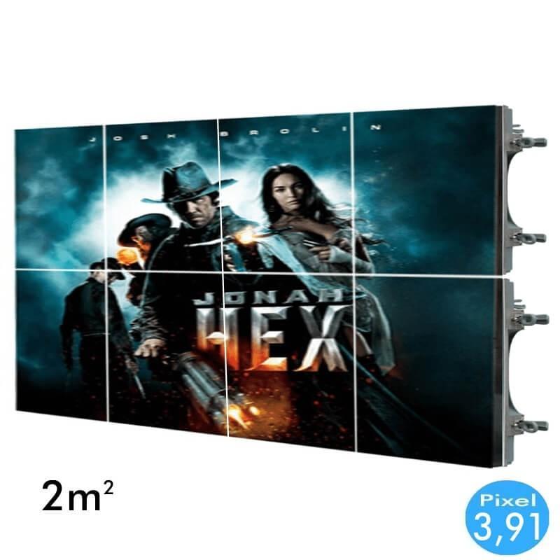 Rótulo electrónico LED Interior Serie RENTAL Pixel 3.91 RGB Full Color 2m2 (8 Modulos Apilable + Control) - Imagen 1