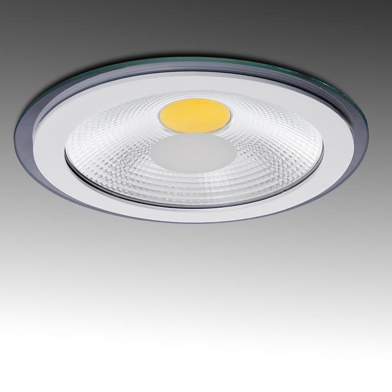 Foco Downlight  LED Circular COB con Cristal Ø197Mm 15W 1200Lm 30.000H - Imagen 1