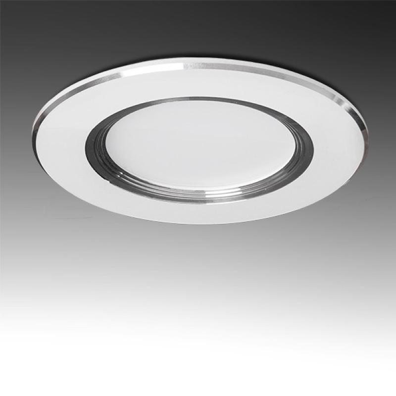 Foco Downlight  LED Ø98Mm Aro Plateado 3W 240Lm 30.000H - Imagen 1