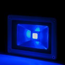 Foco Proyector Led para Exterior BRICO 10W 850lm 30.000H Azul