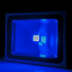 Foco Proyector Led para Exterior BRICO 50W 4250Lm 30.000H Azul
