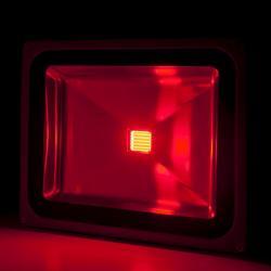 Foco Proyector Led para Exterior BRICO 50W 4250Lm 30.000H Rojo