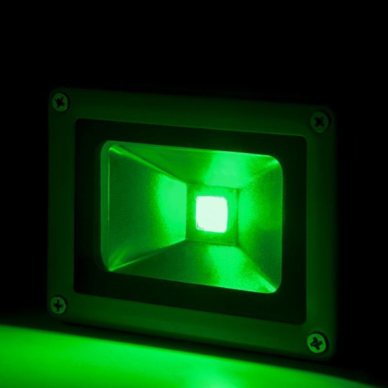 Foco Proyector LED IP65 Brico 10W 850Lm 30.000H Verde - Imagen 1