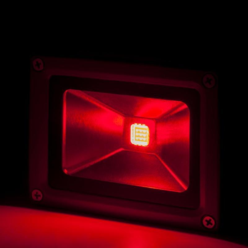 Foco Proyector LED IP65 Brico 10W 850Lm 30.000H Rojo - Imagen 1