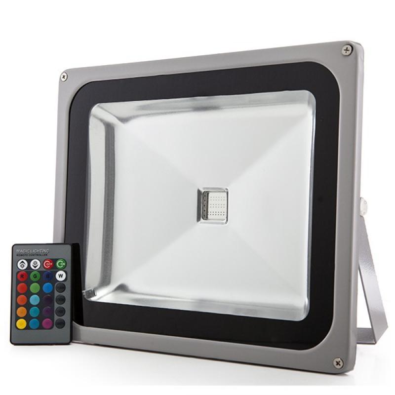 Foco Proyector LED IP65 50W RGB Mando a Distancia - Imagen 1