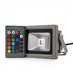 Foco Proyector LED IP65 10W RGB Mando a Distancia - Imagen 1