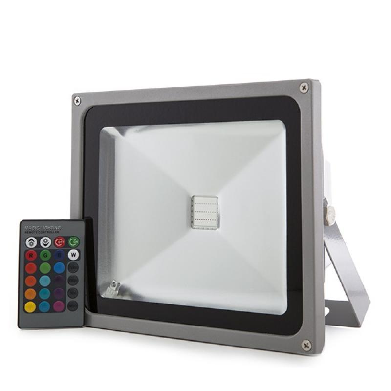 Foco Proyector LED IP65 30W RGB Mando a Distancia - Imagen 1