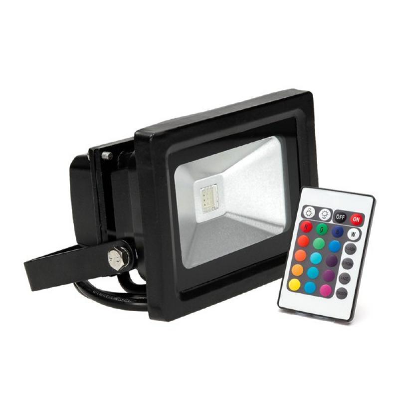 Foco Proyector LED IP65 20W RGB Mando a Distancia - Imagen 1