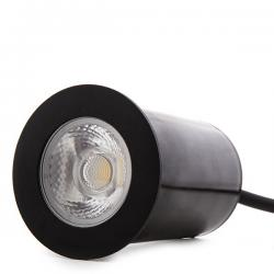 Foco LED Empotrar IP67 4,5W 450Lm 100-240VAC Cable 0,5M Color Negro 50.000H Aliyah