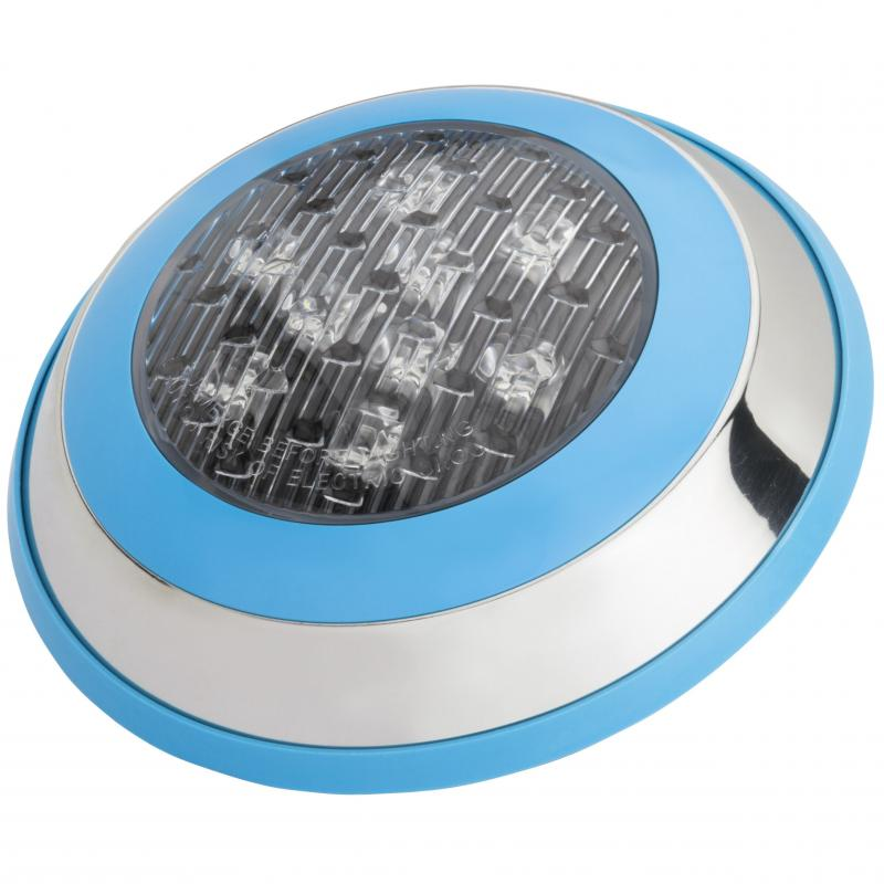 Foco de Piscina Led Montaje Superficie Ø230Mm 9W Multicolor con Mando - Imagen 1