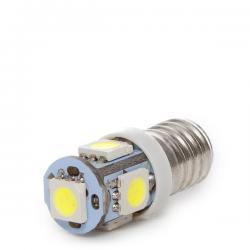 Bombilla Led E10 12VDC 1W 5 X SMD5050