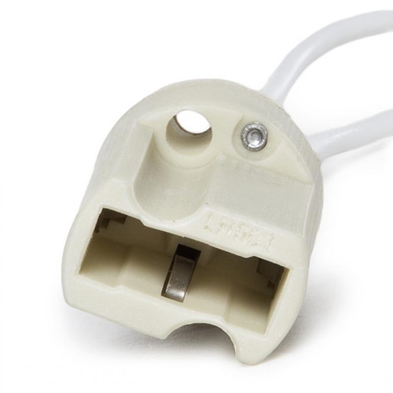 Portalámparas Cerámico G9 Cable 160Mm 180ºc - Imagen 1