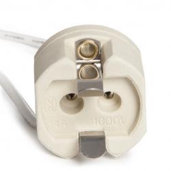 Portalámparas Cerámico G12 Cable 160Mm 180ºc