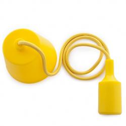 Portalámparas E27 Cable - Rosetón - Color Amarillo - Imagen 1