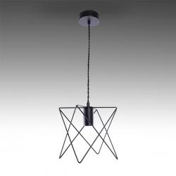 Lámpara Colgante Hierro E27 Negro (Sin Lámpara) Reese - Imagen 1
