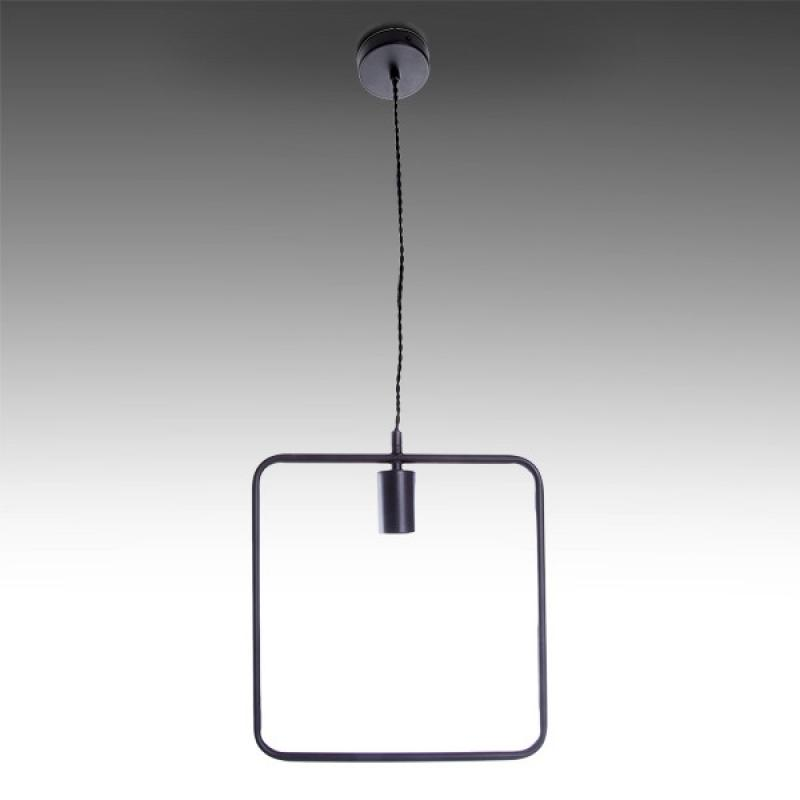 Lámpara Colgante Hierro E27 Negro (Sin Lámpara) Teagan - Imagen 1