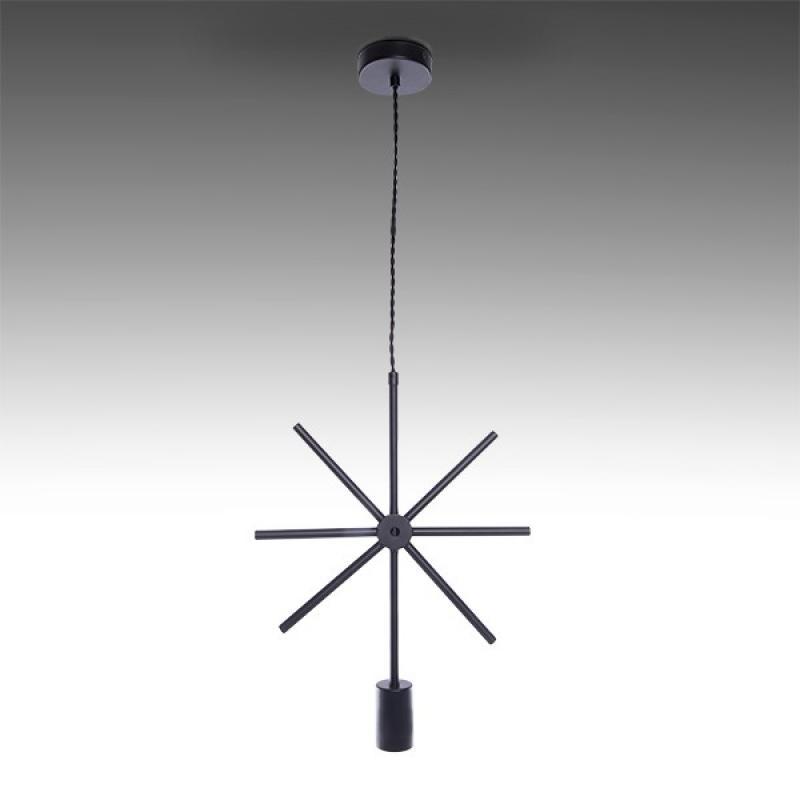 Lámpara Colgante Hierro E27 Negro (Sin Lámpara) Elise - Imagen 1