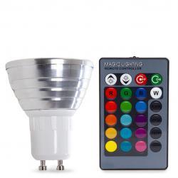 Bombilla Led RGB 3W GU10 Mando a Distancia - Imagen 1