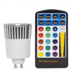 Bombilla Led RGB 5W GU10 Mando a Distancia