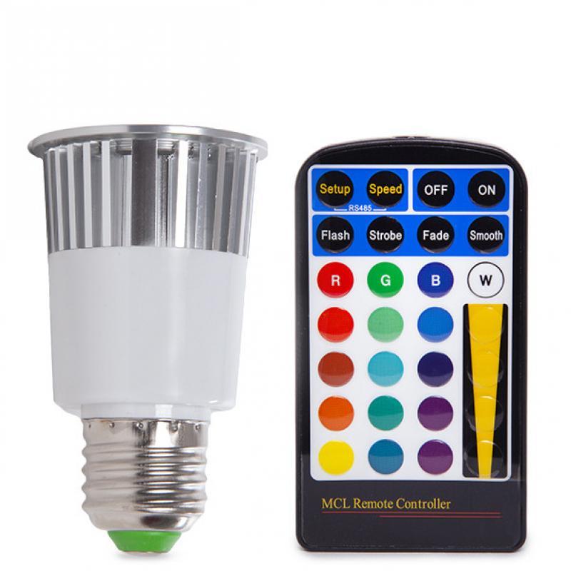 Bombilla Led RGB 5W E27 Mando a Distancia - Imagen 1
