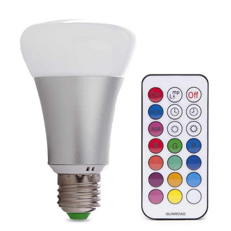 Bombilla LED RGB + W E27 10W Mando a Distancia - Imagen 1