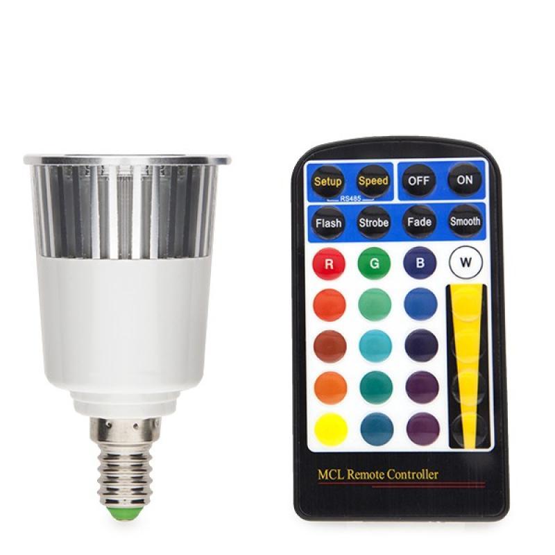 Bombilla Led RGB 5W E14 Mando a Distancia - Imagen 1