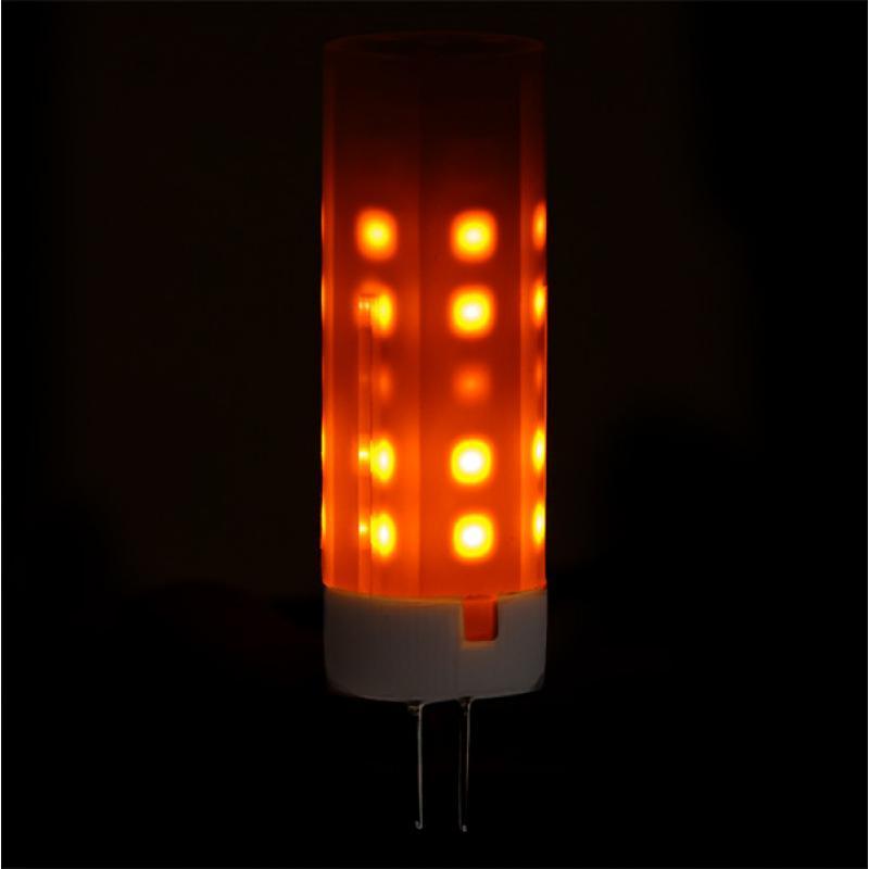 Bombilla LED Efecto Llama G4 2W 25000H - Imagen 1