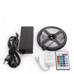 Kit Tira 150 LEDs 36W RGB Blister Transformador, Controlador, Mando a Distancia IP25 - Imagen 1