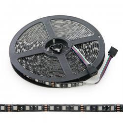 Tira LED 300 X RGB SMD5050 12VDC IP65 Pcb Negro