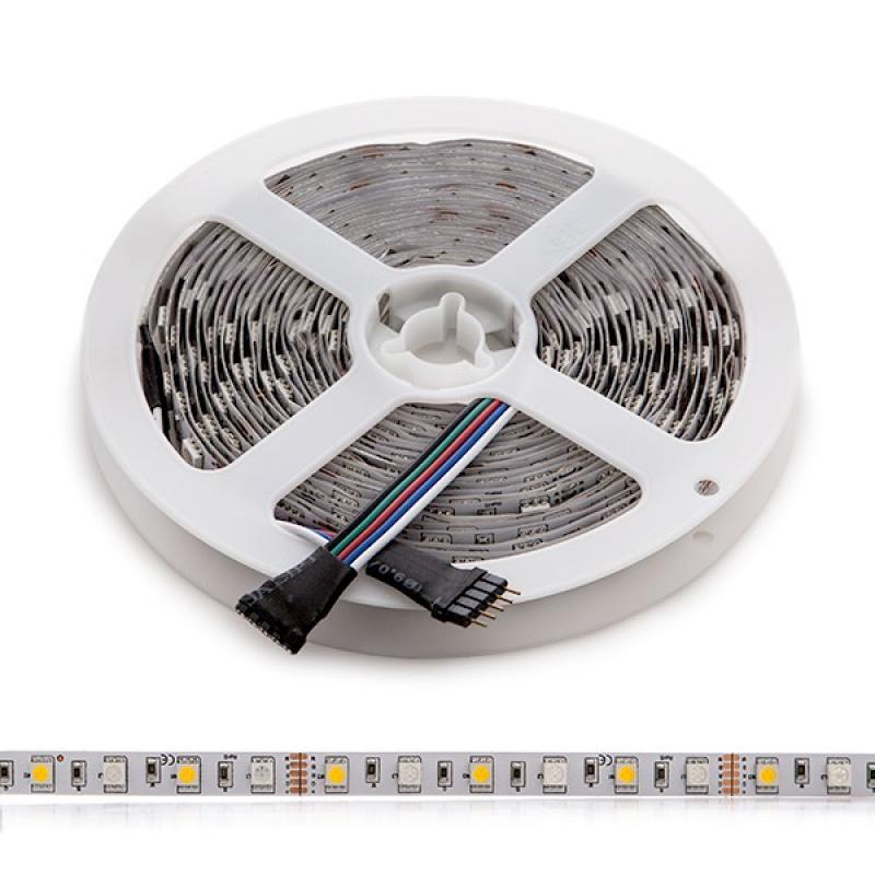 Tira LED 360 X SMD 5050 5M RGB-Blanco Cálido IP25 - Imagen 1