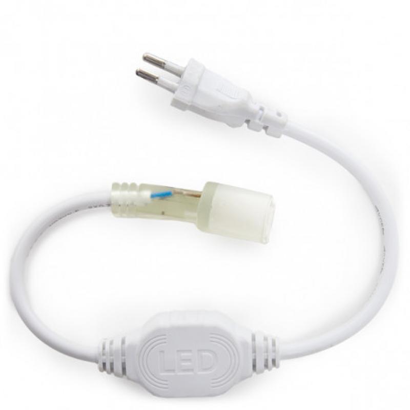 Enchufe Conector 220V Controlador Neon Flex 80 RGB - Imagen 1
